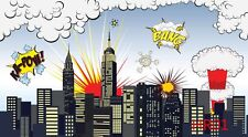 Superhero Vinyl Studio Backdrop Photography Prop Photo Background 5x3ft HR01