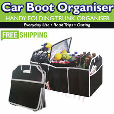 Car Boot Organiser Shopping Tidy Heavy Duty Collapsible Foldable Storage Black