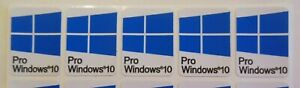 5 x Windows 10 Pro Sticker Badge Logo Decal for laptop PC - HD Quality (blue1)