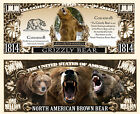 OURS BRUN / GRIZZLY - BILLET 1 MILLION DOLLAR US ! COLLECTION Animal Animaux