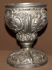Antique Victorian ornate metal goblet chalice