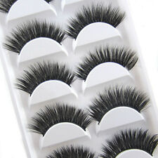 Local 5 Pairs Luxurious 3D False Eyelashes Cross Natural Long Eye Lashes Makeup