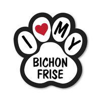I Love My Bichon Frise Auto Furgone Autocarro Muro Vinile Autoadesivo Adesivi