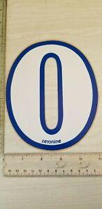"old school ZeroNine BMX White & Blue number plate # 0 NOS 6.5"" big fat wide"