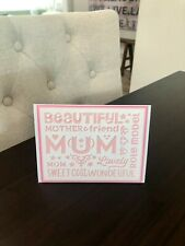 Mother's Day Card - Handmade, Layered Paper, Quote, Pink Color, Free Shipping