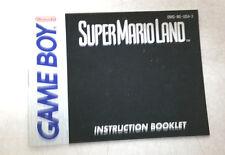 Super Mario Land Instruction Booklet Nintendo Game Boy Book Only Gameboy