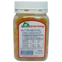 Buttermenthol  Drops 250g Jar Australian Made Candy Cottage Bulk Butter Menthol