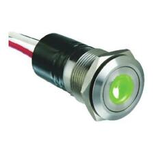 1 x Bulgin Push Button Switch MPI001/FL/GN/6, Panel Mount Illuminated Green LED