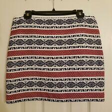 Madewell Jacquard Gamine Aztec Print Mini Skirt Sz 10