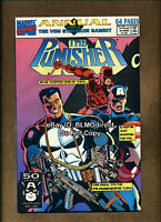 1991 Punisher Annual #4 Double Signed By Mike Baron & John Hebert w/ CoA