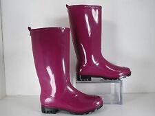 Capelli JELLY RAIN BOOT Wine (Purple) Rubber Rain Boots Pull On Size 8