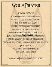 Wolf Familiar Parchment Poster ~Wiccan Pagan Buy 3 Get 1 FREE Book of Shadows