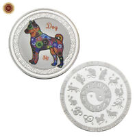 WR 2018 Chinese New Year Of The Dog Silver Coin Mint 12 Animal Signs Collectibes
