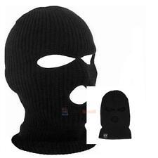 3 Hole Full Face Ski Mask Beanie Cap Mens Womens Hat Black Winter Balaclava Mask