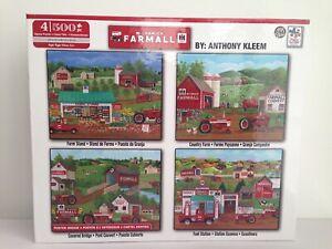 """McCormick Farmall 4 x 500 Piece Jigsaw Puzzles By Anthony Kleem 18x14"""" Each NEW"""