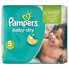 PAMPERS Baby Pannolini DRY Taglia 5 (totale 144 Pannolini) NUOVO