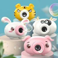 Electric Bubble Blowing Camera Pig Music Bubble Camera Bunny Kids Gift