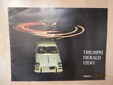 catalogue TRIUMPH HERALD 1200 cabriolet coupé coach