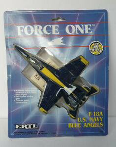 FORCE ONE US Navy F-18A Blue Angels by ERTL - Diecast Model Mint (but opened)