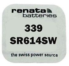 Renata Single Watch Battery Swiss Made Renata 339 or SR614SW 1.55V Fast Shipping