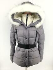 Women Ladies New Short Warm Padded FAUX FUR Belt Hood Puffer Coat/Jacket 7012