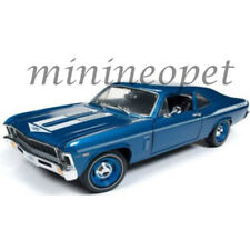 AUTOWORLD AMM1135 1969 CHEVROLET YENKO NOVA 1/18 DIECAST MODEL CAR BLUE