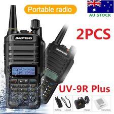 2x Waterproof Baofeng UV-9R Plus Walkie Talkie DualBand UHF/VHF Two Way FM Radio