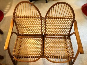 Vintage Vermont Tubbs very rare Snowshoe Settee Bench in excellent condition!