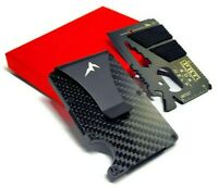 EDC Tactical Wallet Multitool Slim Minimalist RFID Blocking Carbon Fiber Wallet