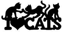 I LOVE CATS STICKER Funny Caravan Wall Swift Bailey Car 4x4 Novelty Vinyl Decal
