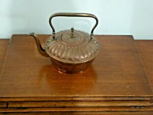 Rare Vintage Copper Kettle With Ornate top And Lid 1.4kg
