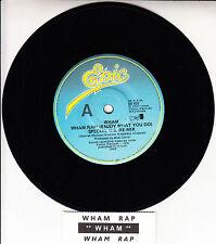 "WHAM!  Wham Rap! (Enjoy What You Do) GEORGE MICHAEL 7"" 45 record + jukebox strip"