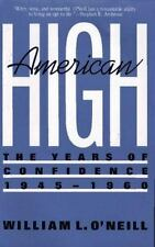 American High: The Years Of Confidence, 1945-60-ExLibrary