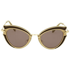 Miu Miu Brown Purple Cat Eye Sunglasses