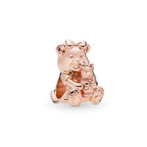 Rose Gold Plated Dora Bear Charm for Charm Bracelet 💞- Mother and Baby Charm