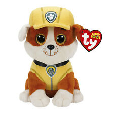 "Rubble Bulldog Plush Soft Toy, Paw Patrol, Ty Beanie Boo's Collection 6"" (15cm)"