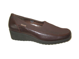 Mephisto Women's Wedge Dress Shoes Brown Leather USA Sz 8.5 M