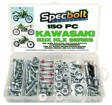 150pc Kawasaki KDX Bolt Kit 200 220 250 400 plastic fender seat tank 50 80 175