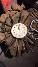 Vintage 1963 Mid Century Modern Lux Starburst Wall Clock Robert Shaw Working!