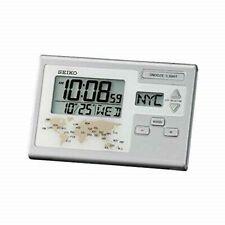 SEIKO Digital World Time Clock Travel Alarm Desk Clock / QHL050S