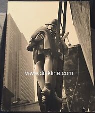 Vintage Press Photo 1942 Fireman Fire Woman Volunteers Chicago WWII Gas Mask