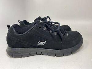Skechers Elite Memory Foam Womens 10 Athletic Shoe Suede Leather 11717EW Black