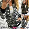 Femme Camouflage Veste Mode pour Femmes Fermeture Éclair Manteau Décontracté