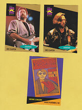 Lot of 3 Eric Clapton / Cream trading cards pub. early 1990's