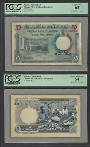 Nigeria Face & Back 5 Pounds ND 1967 P9 Essay Proof Specimen Uncirculated