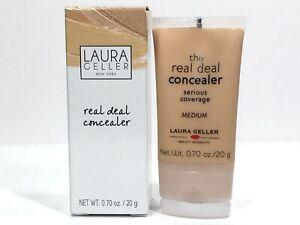 Laura Geller REAL DEAL *Serious Coverage* Concealer Medium Full Sz New In Box