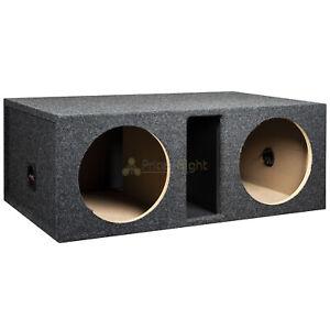 """Dual 10"""" Ported Subwoofer Box Enclosure 3/4"""" MDF Vented Sub Box RI Audio"""