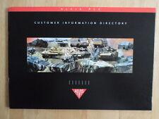 ALVIS RANGE of Military Vehicles c1998 Sales brochure - Scarab Scorpion Tactica