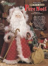 Pere Noel, Plastic Canvas Pattern Booklet TNS 954030 Old World Santa Centerpiece