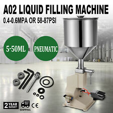A02 Bottle 5-50ml Liquid Filling Machine Stainless Steel Bottler Filler CA Ship